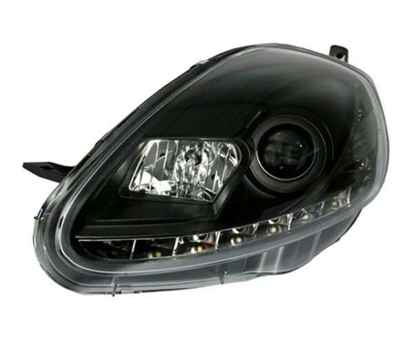 Scheinwerfer Tagfahrlicht Optik Fiat Grande Punto 05-08 Schwarz