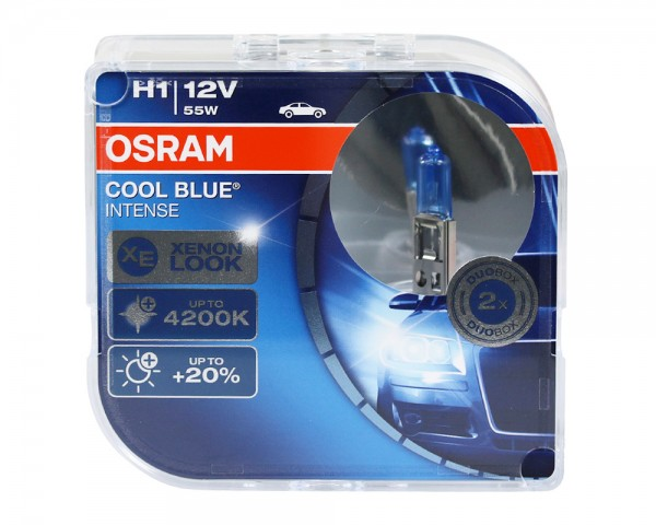 OSRAM Duo Box Glühlampe Cool Blue Intense H1 55W