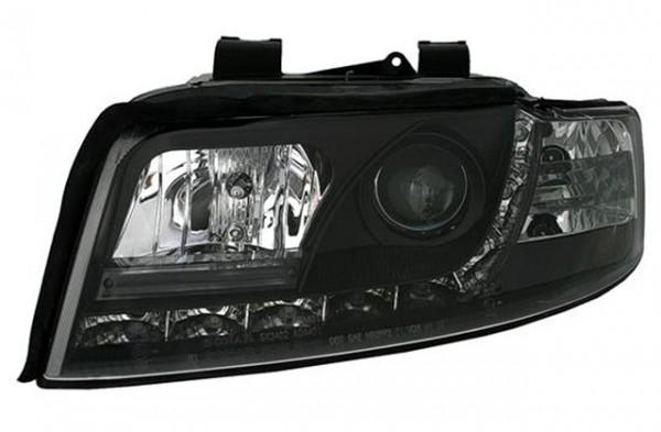 Scheinwerfer Tagfahrlicht Optik Audi A4 8E Bj. 01-04 Schwarz