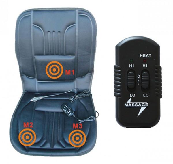 PKW Sitzheizung 12V 2-Heizstufen mit Massage Massagefunktion Sitzauflage