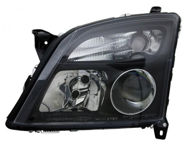 Scheinwerfer Klarglas für Opel Vectra C Bj. 02-05 Schwarz