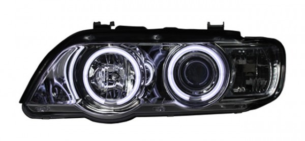 Scheinwerfer Angel Eyes CCFL BMW X5 E53 Bj. 00-03 Chrom