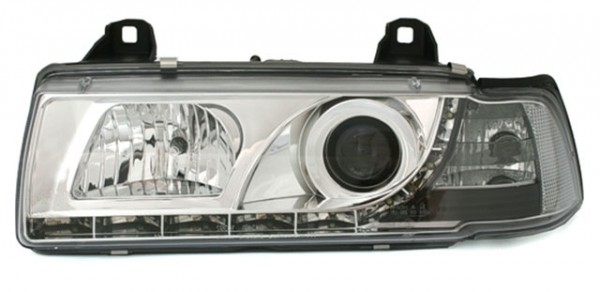 Scheinwerfer Tagfahrlicht Optik BMW E36 Limo Chrom