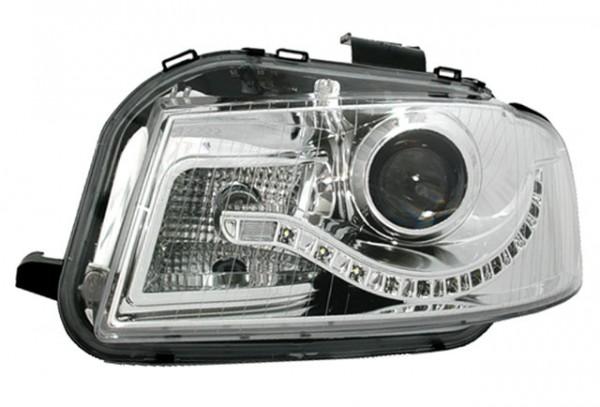 Scheinwerfer Tagfahrlicht Optik Audi A3 8P Bj. 03-08 Chrom
