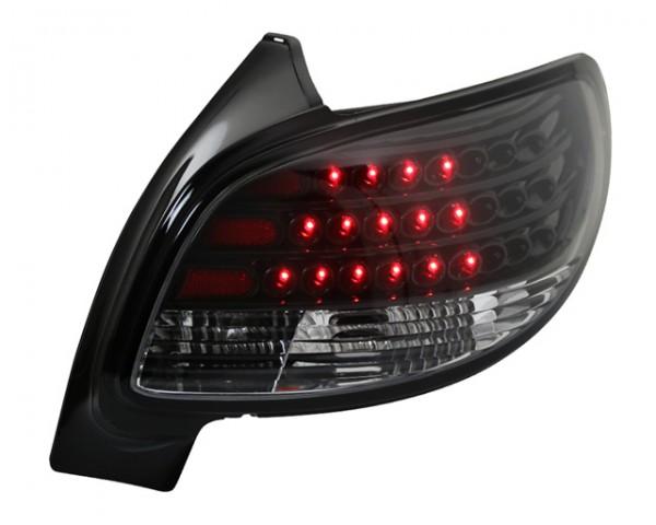 LED Rückleuchten Peugeot 206 Limousine Bj. 98-06 Schwarz