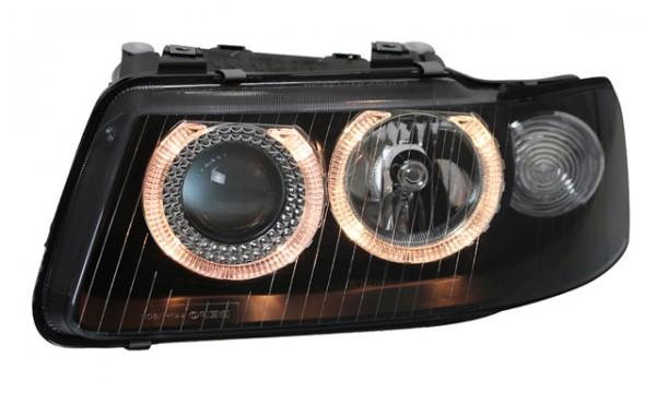 Scheinwerfer Angel Eyes für Audi A3 8L 00-03 Schwarz
