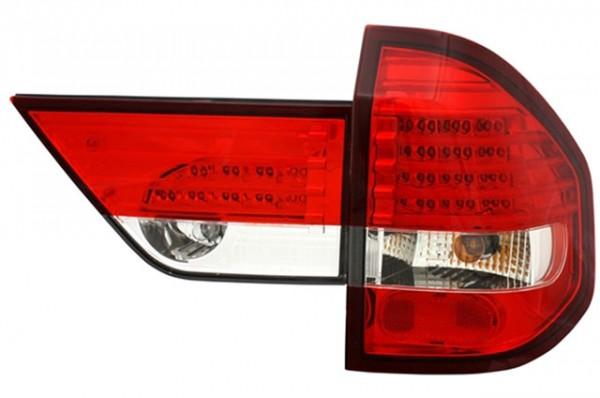LED Rückleuchten BMW X3 Typ E83 Bj. 04-06 Rot/Chrom