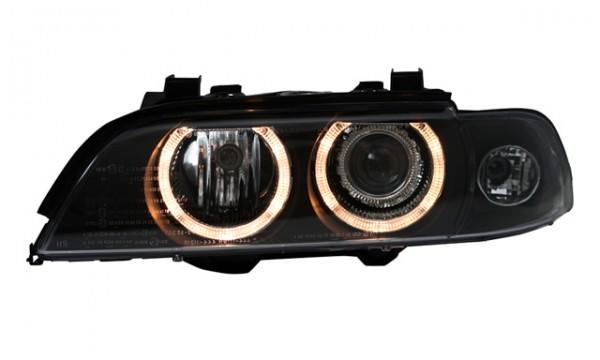Scheinwerfer Angel Eyes BMW E39 Limo/Touring Bj. 95-00 Schwarz