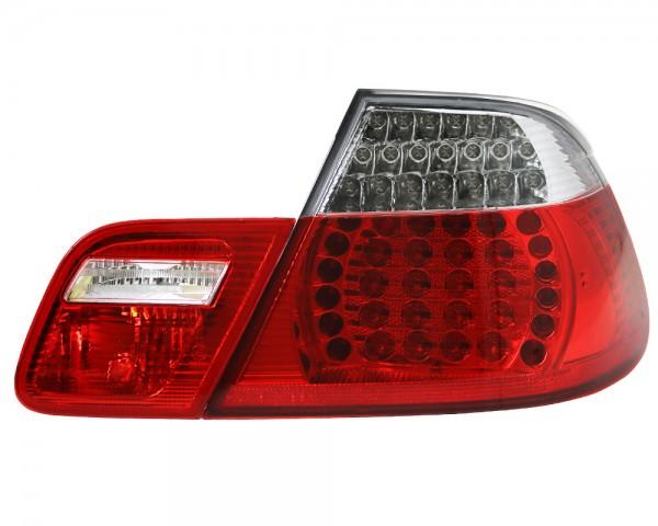 LED Rückleuchten BMW E46 Cabrio Bj. 00-07 Rot/Chrom