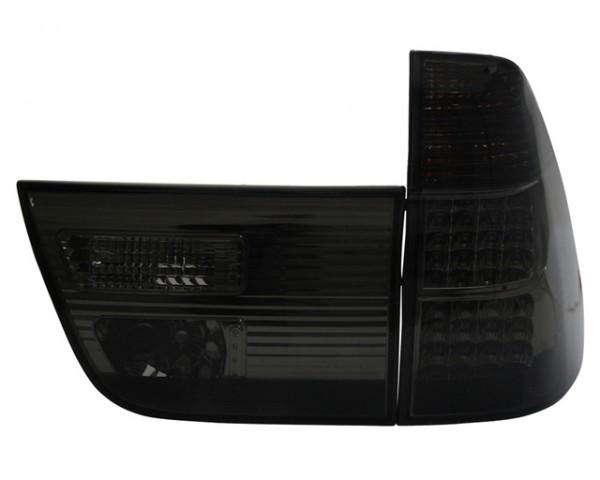 LED Rückleuchten BMW X5 E53 Bj. 99-03 Schwarz/Smoke