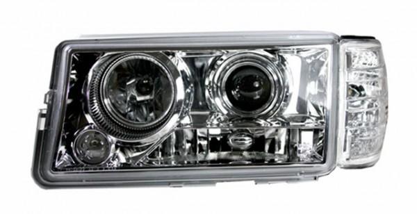 Scheinwerfer Klarglas Projektor Mercedes 190 W201 82-93 Chrom