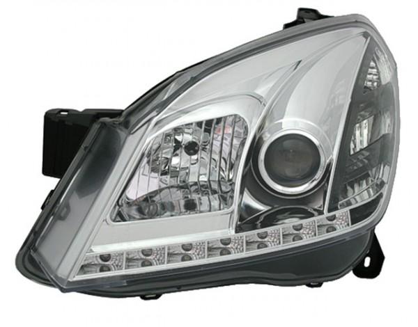 Scheinwerfer Tagfahrlicht Optik Opel Astra H Bj. 04-09 Chrom