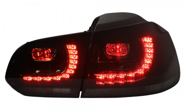 LED Rückleuchten VW Golf 6 VI Schwarz/Smoke GTI R Look