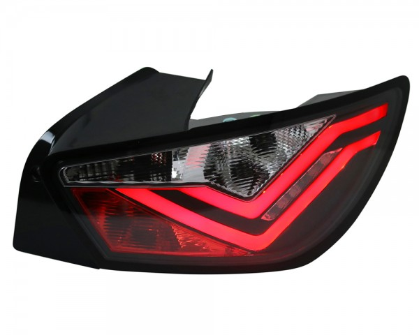 LED Lightbar Rückleuchten für Seat Ibiza 6J Bj. 2008-2015 Schwarz