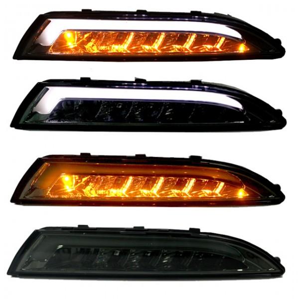 carDNA LED Frontlinker + Standlicht VW Scirocco 3 III Bj. 08- Smoke