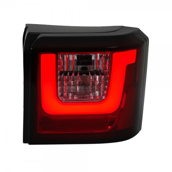 LED Lightbar Rückleuchten für VW T4 Bus Bj. 1990-2003 Rot/Chrom