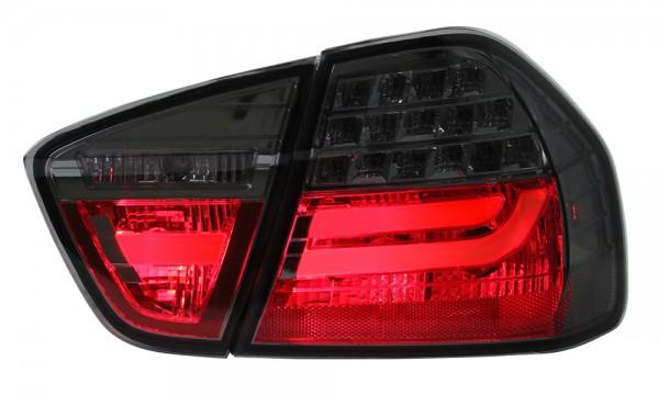LED Lightbar Rückleuchten BMW E90 Limo Bj. 04-08 Smoke