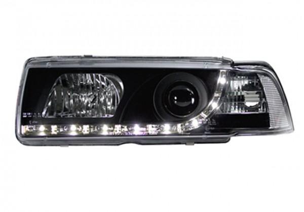 Scheinwerfer DRL Tagfahrlicht BMW E36 Limo 90-98 Schwarz