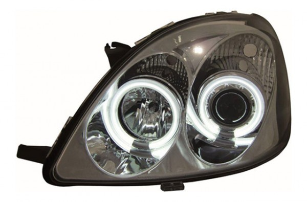 Scheinwerfer Angel Eyes CCFL Toyota Yaris Bj. 98-05 Chrom