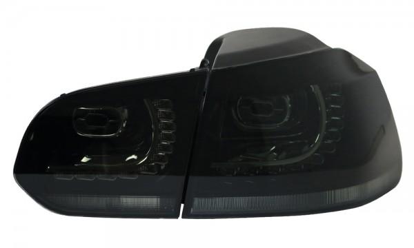 LED Rückleuchten für VW Golf 6 VI Schwarz/Smoke GTI R Look