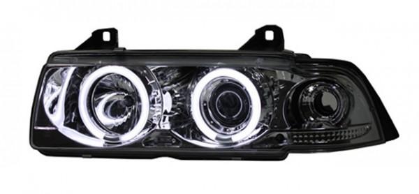 Scheinwerfer Angel Eyes CCFL BMW E36 Cabrio Bj. 93-99 Chrom