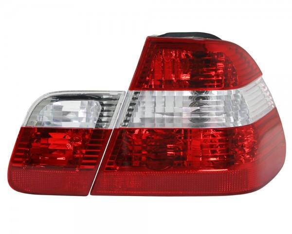 Rückleuchten Set für 3er BMW E46 Limo Bj. 98-01 Rot Weiss