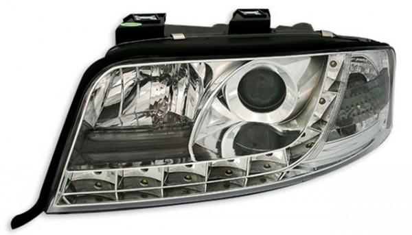 Scheinwerfer Tagfahrlicht Optik für Audi A6 4B C5 01-04 Chrom