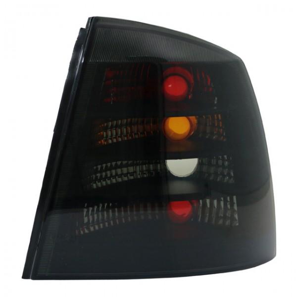 Rückleuchten Klarglas Opel Astra G Limo Bj. 98-04 Schwarz