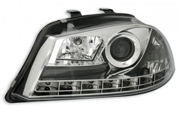 Scheinwerfer Tagfahrlicht Optik Seat Ibiza 6L Bj. 02-08 Chrom