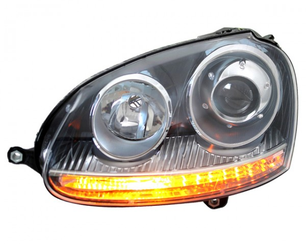 Scheinwerfer Klarglas für VW Golf 5 Bj. 03-08 Schwarz GTI Optik
