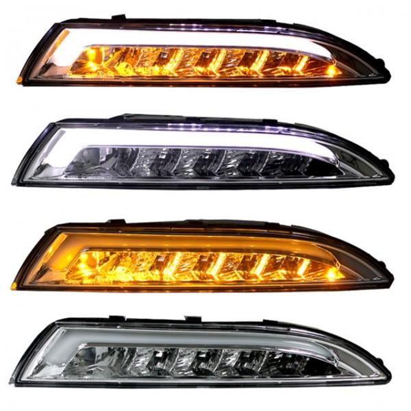 carDNA LED Frontlinker + Standlicht VW Scirocco 3 III Bj. 2008-2014 Chrom