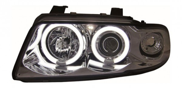 Scheinwerfer Angel Eyes CCFL Audi A4 B5 Bj. 94-98 Chrom