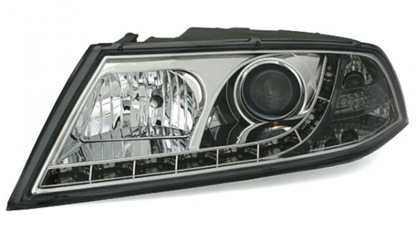 Scheinwerfer Tagfahrlicht Optik für Skoda Octavia Bj. 04-09 Chrom
