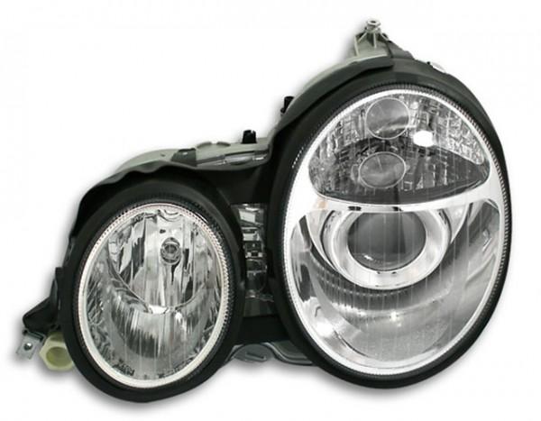 Scheinwerfer Klarglas für Mercedes W210 E-Klasse 95-99 Chrom