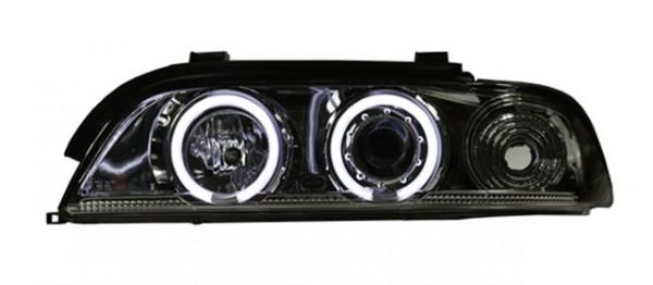 Scheinwerfer Angel Eyes CCFL BMW E39 Limo/Touring 95-00 Chrom