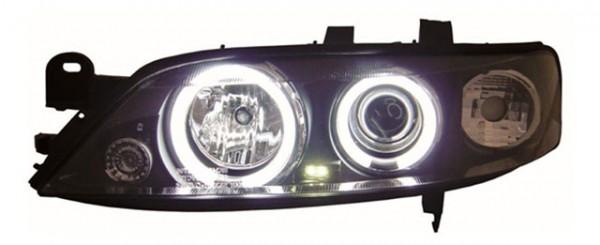 Scheinwerfer Angel Eyes CCFL für Opel Vectra B Bj. 95-98 Schwarz