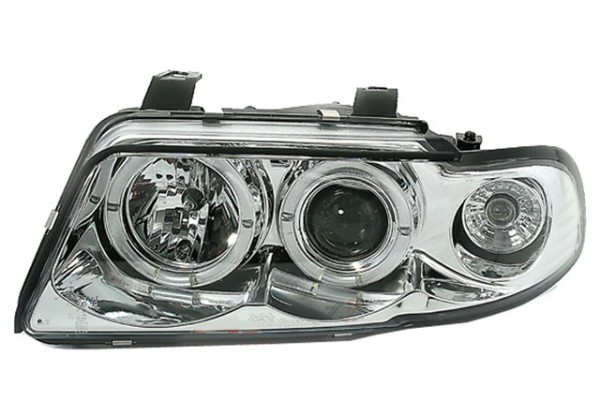 Scheinwerfer Angel Eyes Audi A4 B5 Bj. 94-98 Chrom