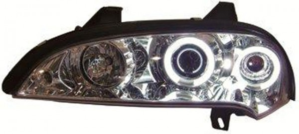 Scheinwerfer Angel Eyes CCFL Opel Tigra Bj. 94-00 Chrom