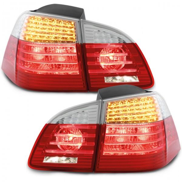LED Rückleuchten BMW E61 Touring Bj. 04-07 Rot/Chrom