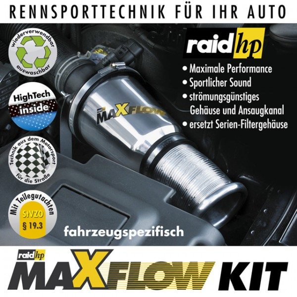 raid hp Sportluftfilter Maxflow für Ford Focus 1 DNX 1.4i 75 PS 09.98-