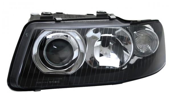 Scheinwerfer Klarglas für Audi A3 8L Bj. 00-03 Schwarz