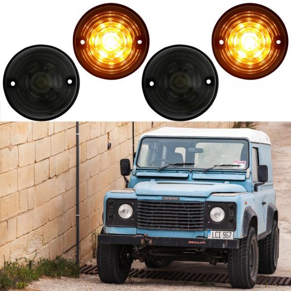 LED Blinker Set für Land Rover Defender TD4 TD5 Bj. 1990-2016 Schwarz/Smoke