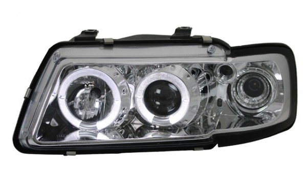 Scheinwerfer Angel Eyes Audi A3 8L 96-00 Chrom
