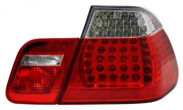 LED Rückleuchten BMW E46 Limo Bj. 01-05 Rot/Chrom