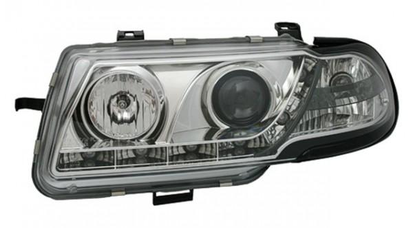 Scheinwerfer Tagfahrlicht Optik für Opel Astra F Bj. 94-98 Chrom