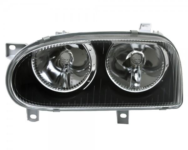 Scheinwerfer Klarglas für VW Golf 3 Bj. 91-97 Schwarz