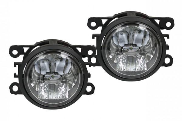 2 in 1 LED Tagfahrlicht + LED Nebelscheinwerfer für Peugeot 207 06-