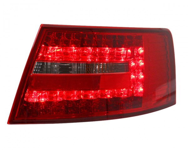 LED Rückleuchten für Audi A6 4F Limo Bj. 04-08 Rot/Chrom 7-PIN