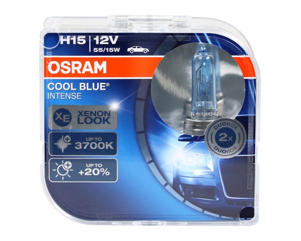 OSRAM Duo Box Glühlampe Cool Blue Intense H15 55/15W