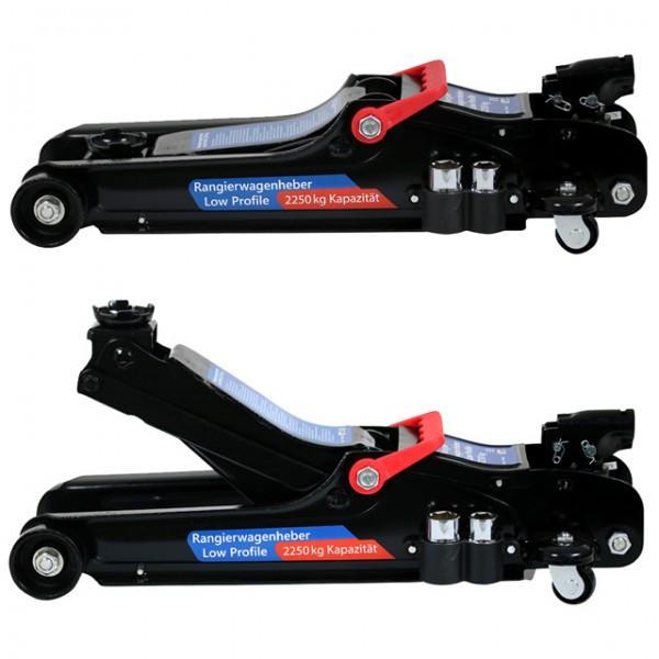 Rangier Wagenheber 8cm flach 2,25T Low Profile für tiefergelegte Fahrzeuge